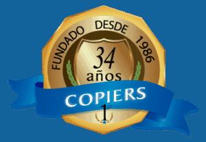 logo copiers 34 aniversario